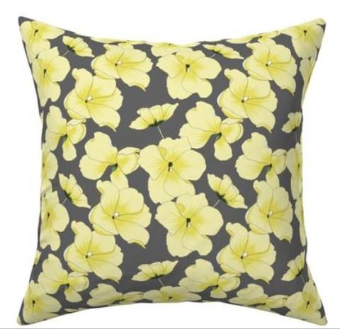 Illuminating yellow flowers on Ultimate gray pillow.jpg