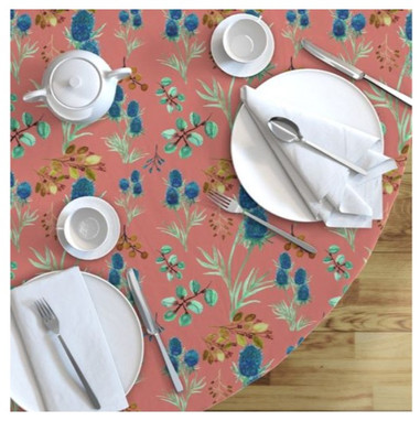 African Outback Blue Thistle Tablecloth.jpg