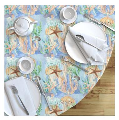 Starfish and Jellyfish tablecloth.jpg