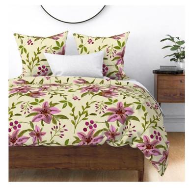 Pink Tiger Lilies Large Bedding.jpg