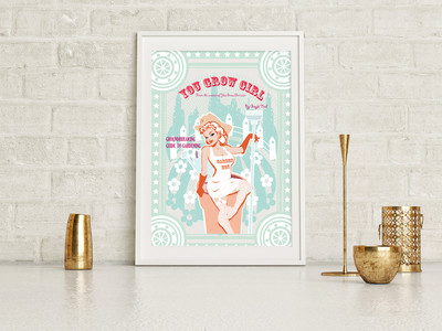 You Grow Girl Bookcover Poster      $35