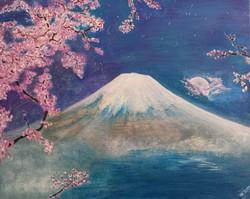 Fuji Moonrise