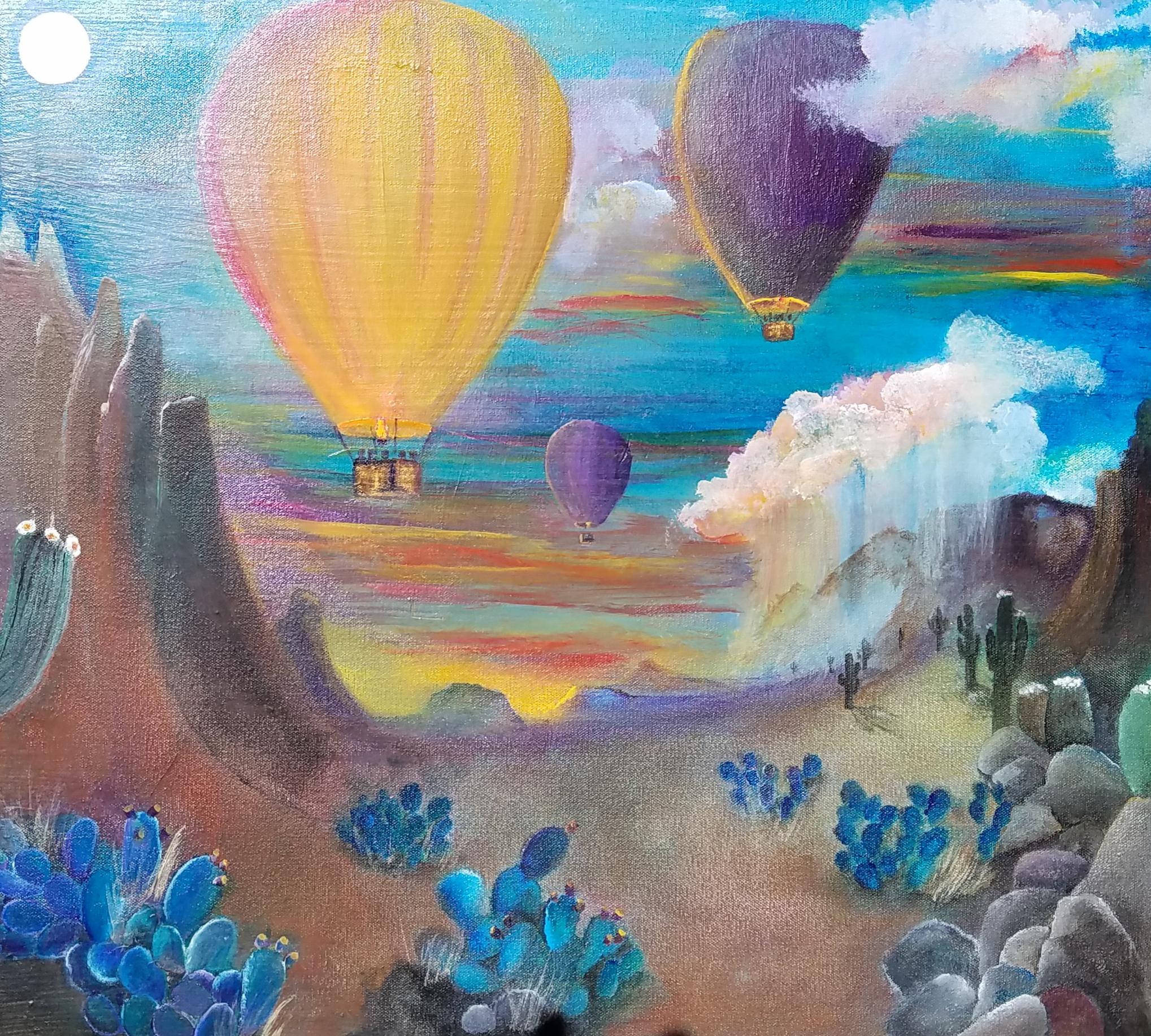 Ballooning at Dusk