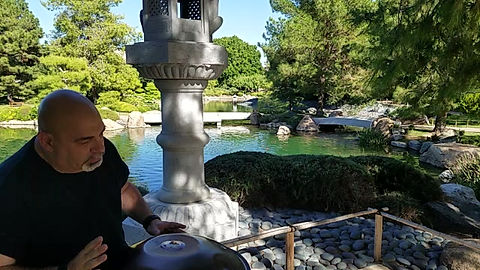 Playing Handpan in The Japanese Friendship Garden