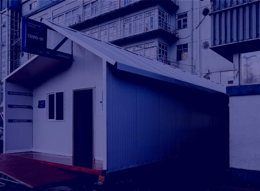 Proyecto Zona Cero - módulo auxiliar hospitalario prevención Covid-19 , Diseño abierto