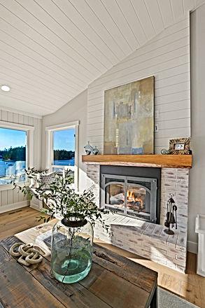 Fireplace Detail Island Living Kitchen P