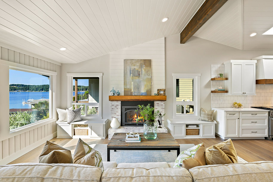 Great Room and Fireplace Island Living K