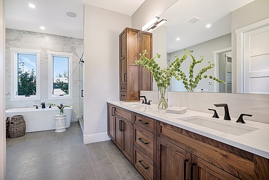 Master Bathroom tub and Vanity Photo By