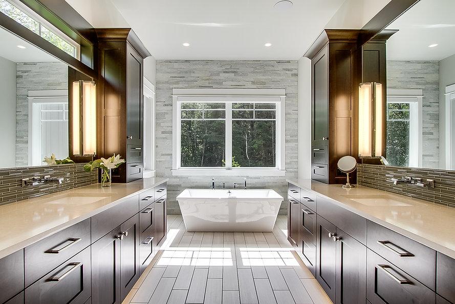 Master bath Photo by Matthew Witschonke.