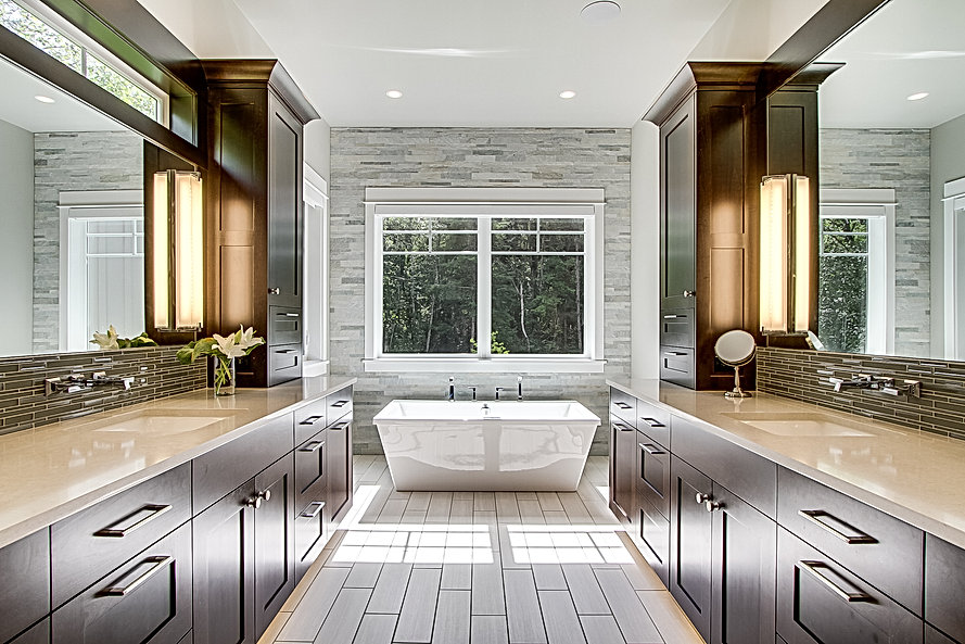 Master bath Photo by Matthew Witschonke.