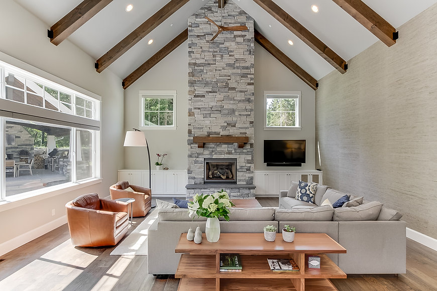 Great Room and Fireplace photo by Matthe