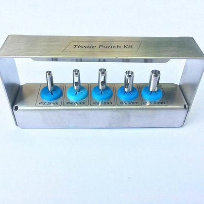 Dental Implant Tissue Punch Kit 5 Pieces set Surgical Tools