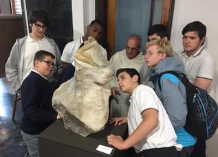 Primeras visitas de los colegios de Valladolid a la exposición.