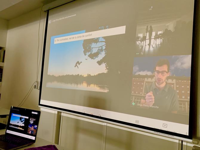 Nuestros alumnos de Bachillerato se conectan con Google Irlanda