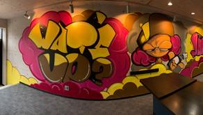 名古屋大須のオフィスにスプレーアート