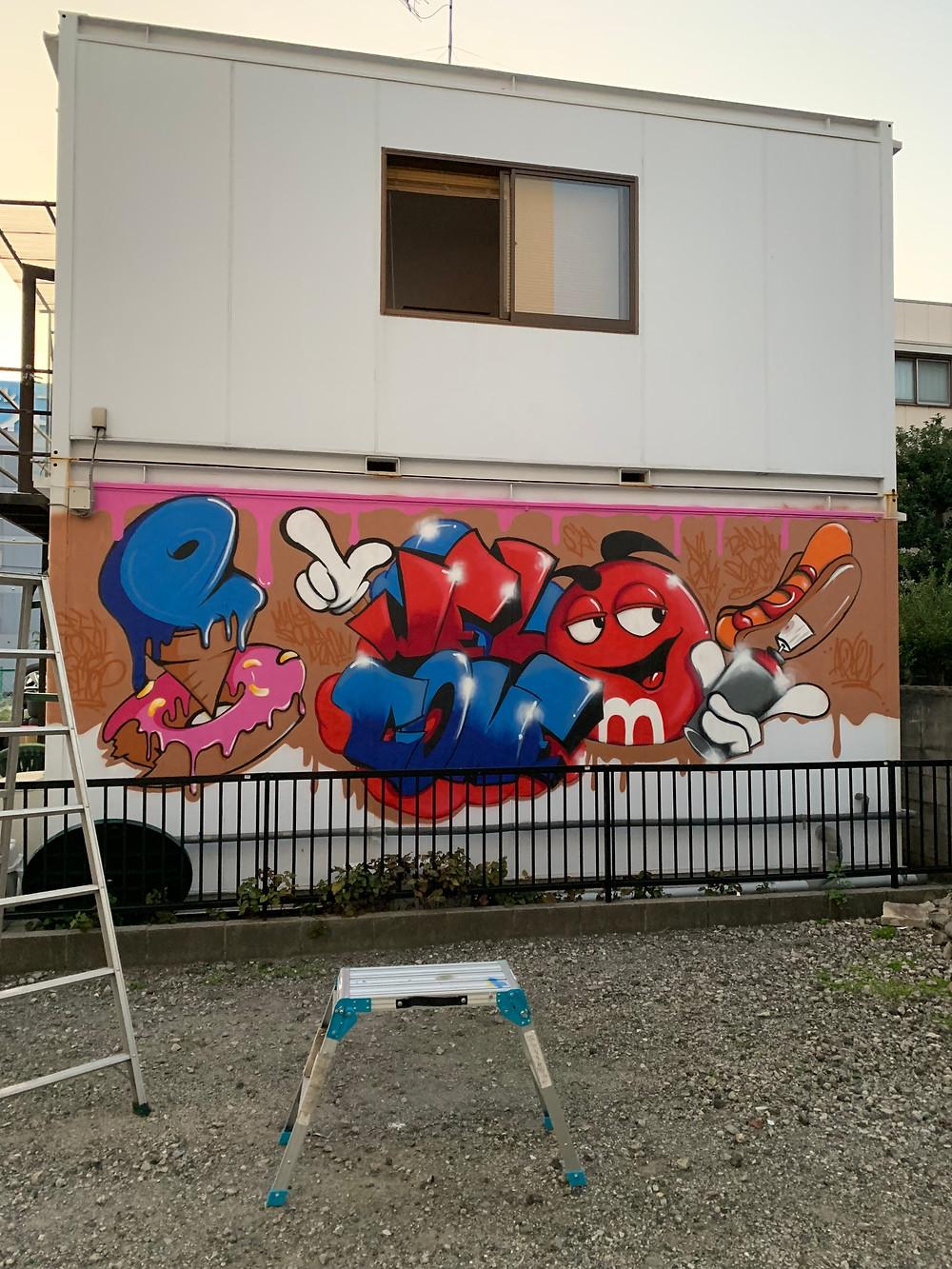名古屋のグラフィティアート