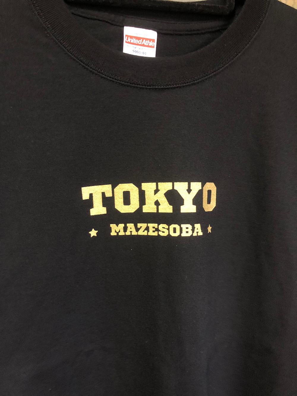 Tシャツゴールド印刷アップ