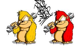 オリジナルのキャラクター,ロゴ作成はストスタへ