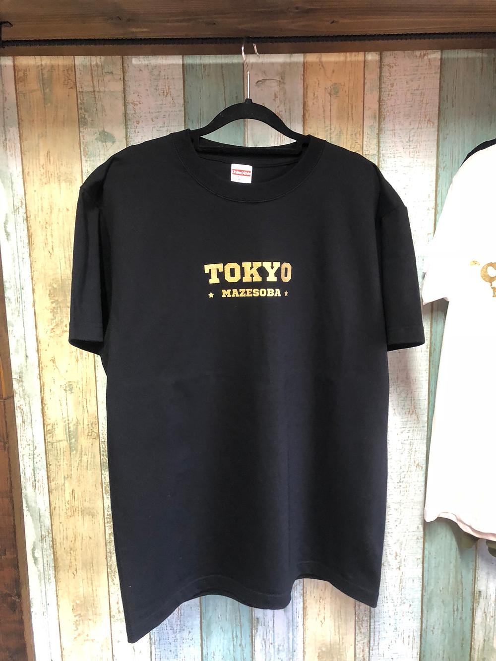 黒いTシャツゴールド印刷