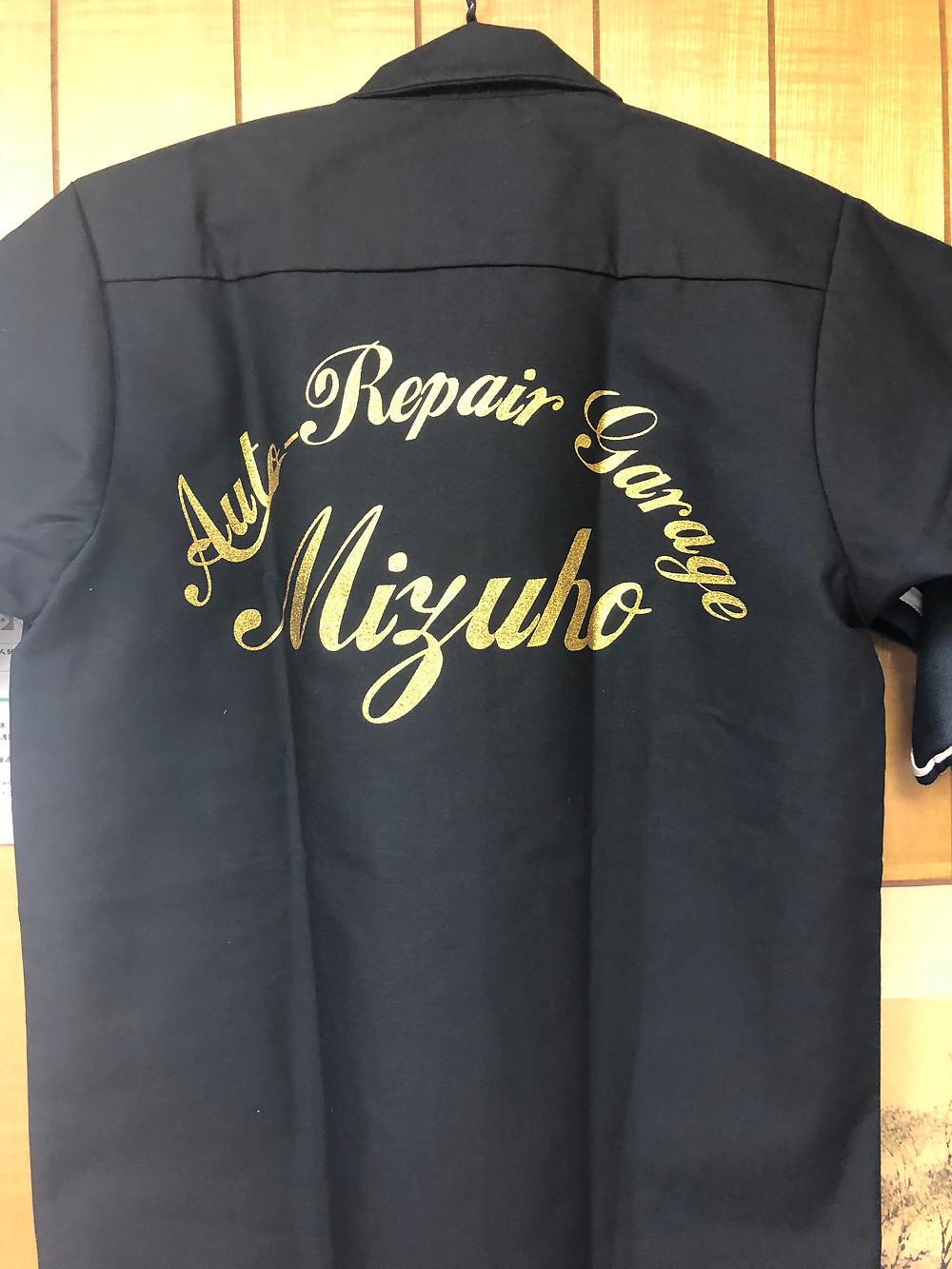 ゴールド印刷ワークシャツ