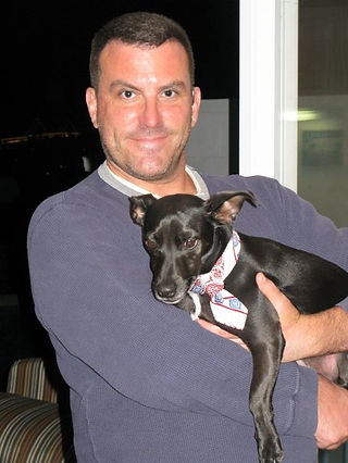 Picture of Mark Howes and his dog Max