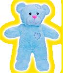 Blue Heart Bear