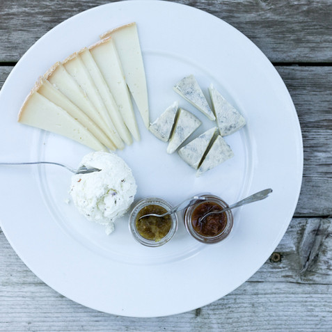 Leslie Cooperband - simple cheese plate.