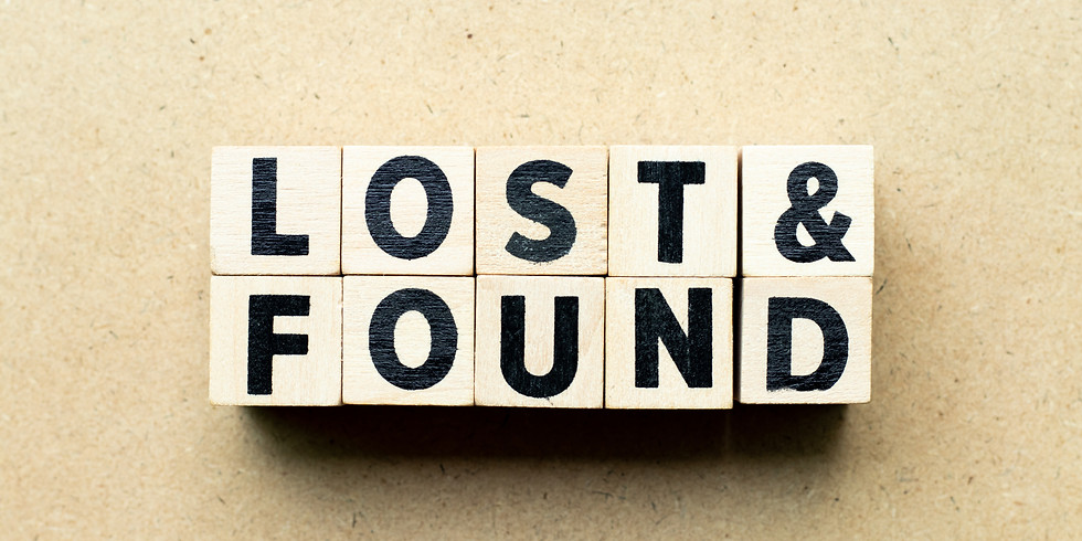 Last Chance!  Lost & Found Pick Up