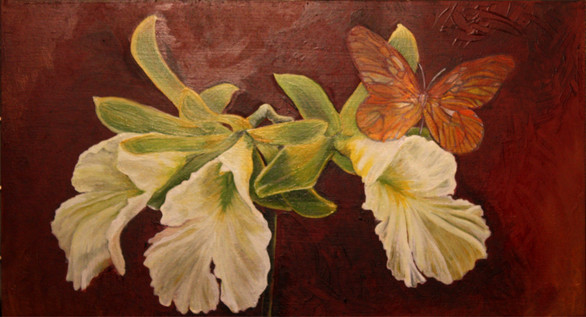 orchids and butterfly - sold