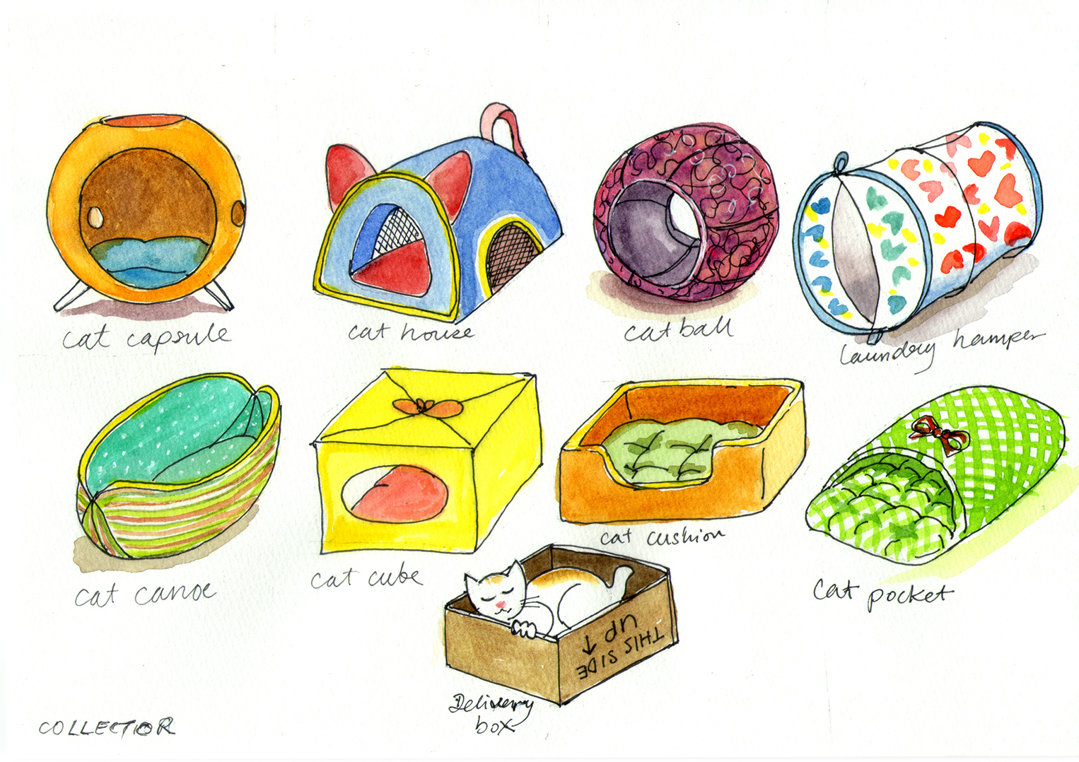 Cat bed collection