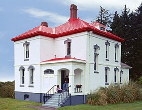 The former head lighthouse keeper's residence