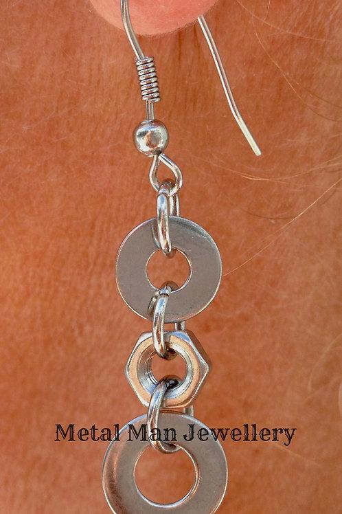 EA - Washer & Nut earrings