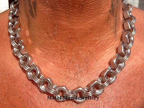 N16 - M10 Hex Nut Necklace