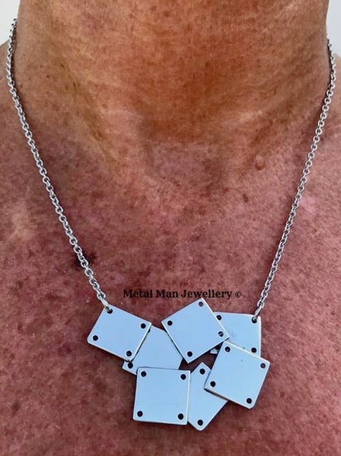 P - Silver brazed plate necklace
