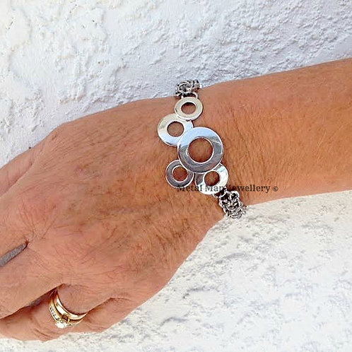 W3 - Brazed washer and hex nut bracelet