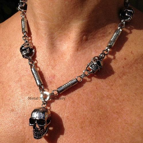 SC11 - Skull & Bar Necklace