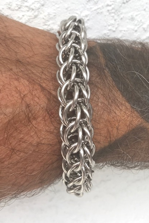 CM3 15mm diameter Full Persian Chainmaille bracelet