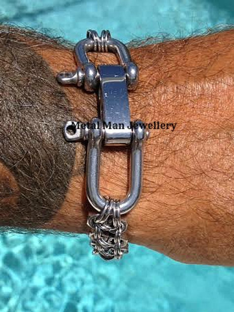 I1 - Double D Shackle & M4 Hex Nut ID Bracelet