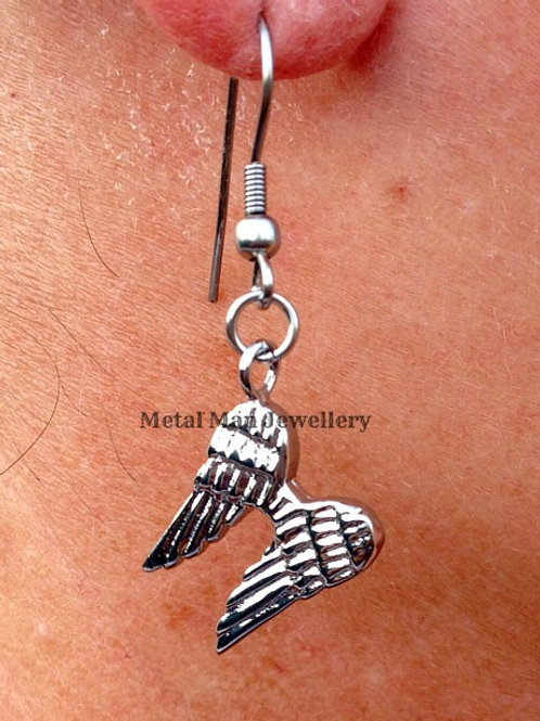 EB1 - Angel wings hook earrings