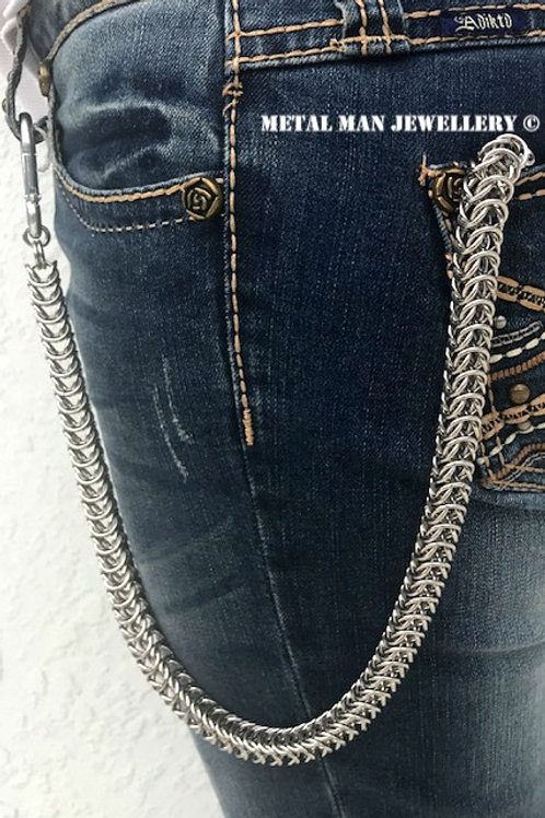 WD4 Box weave chainmaille wallet chain