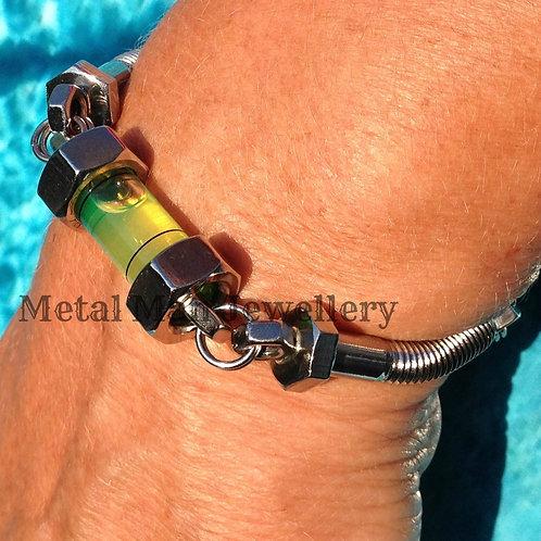L3 - Unisex Level, Bolt & M4 Hex Nut Bracelet