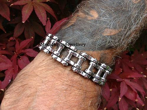 BC - 22mm Stainless Steel Bike Chain Bracelet