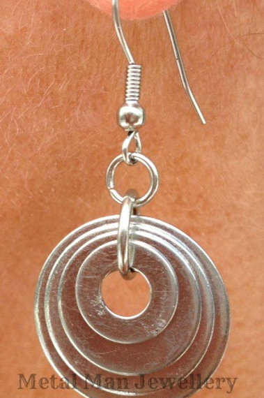 EZ16- Washer Earrings