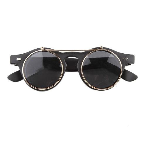 SZ - Black Flip up, double lens sunglasses