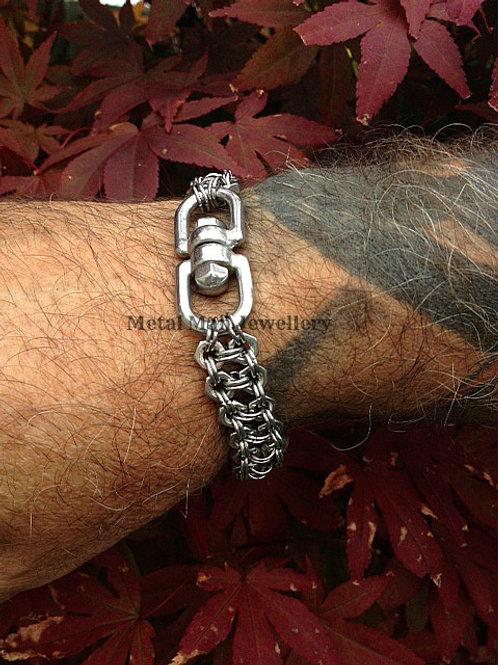 SWE3 - 2 Strand M4 Hex Nut & Eye Swivel Bracelet