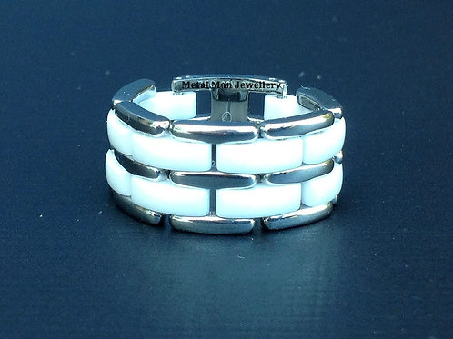 R12 - Double layer ceramic & stainless steel ring