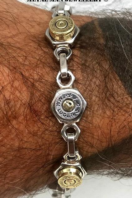 BU16-Multi bullet casing & M8 Half nut bracelet
