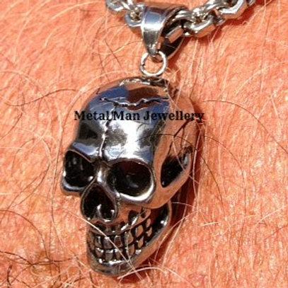 Medium Stainless Steel Skull Pendant
