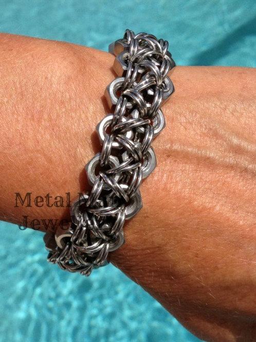 C4 - Unisex 2 strand M6 hex nut bracelet