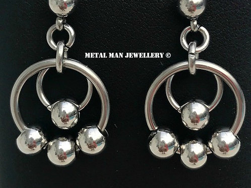 EB Multi ball and ring earrings